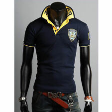 Casual T-Shirts Slim Fit Tee New Mens Stylish Shirt Polo Short Sleeve Tops A0431