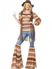 Ladies 1970's Hippie Costume Adults Womens Hippy Seventies Fancy Dress Outfit