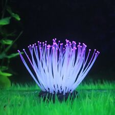 Artificial Silicone Sea Anemone With Glowing Effect For Fish Tank Aquarium Decor