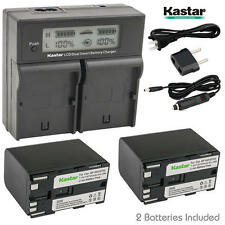 BP-970G Battery & LCD Dual Charger for Canon G-1500 G2000 GL1 GL-1 GL2 GL-2
