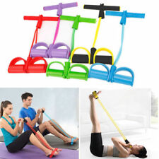 2-Tube Foot Pedal Pull Rope Resistance Exercise Sit-up Fitness Yoga Equipment FS