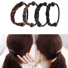 New Fashion Womens Braid Wig Elastic Hair Band Rope Scrunchie Ponytail Holder
