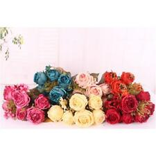 Artificial Peony Roses Silk Foral Home Wedding Banquet Flower Decor 6 Colors