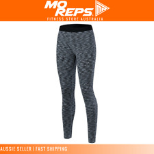 Women Yoga Gym Pants Sports Tights Quick Drying Compression Full Length Grey