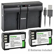 PS-BLM1 Battery & USB Dual Charger for Olympus E-520, EVOLT E-300, EVOLT E-330