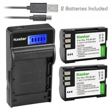 PS-BLM1 Battery & Slim LCD Charger for Olympus EVOLT E-500, EVOLT E-510, C-5060