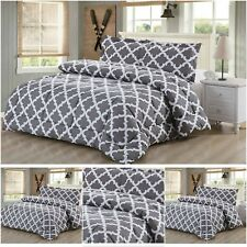 Goose Down Comforter Set Luxurious Alternative Bedding Grey Twin/Queen/King Size