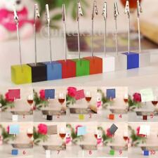 First Quality Acrylic Desk Decor Cube Base Wire Memo Holder Photo Storybook Clip