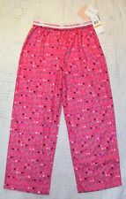 NWT Girls CALVIN KLEIN Pink Flannel Lounge Pajama Pants - size S ( 7 - 8 )