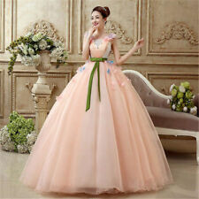 2017 New Sweetheart Flower Organza Wedding Party Pageant Evening Dress Ball Gown