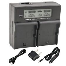 BP-827 Battery & Dual LCD Charger for Canon VIXIA HF S21, HFS21, HF S200, HFS200