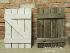 NEW RUSTIC FARMHOUSE RECLAIMED BARN WOOD SHUTTERS FOR 8 PANE WINDOW MIRROR DECOR