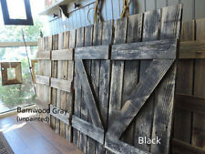 NEW RUSTIC FARMHOUSE RECLAIMED BARNWOOD SHUTTERS FOR 12 PANE WINDOW MIRROR DECOR