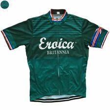 GREEN BRITANNIA EROICA UK Cycling Jersey Shirt Retro Bike Ropa Ciclismo MTB Mail