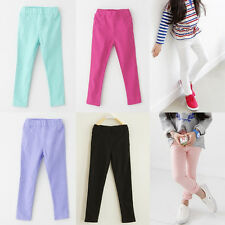 Lovely Girls' Stretchy Pants Trousers Kid's Skinny Leggings Casual Tight Pencil