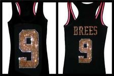 New Orleans Football Drew Brees Bling Sparkle Saints Jersey LONG SLEEVE ALLSIZES