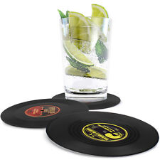 Home Table Cup Vintage Mat Coffee Drink Placemat CD Record Drink Tea Coasters-AU