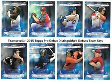 2015 Topps Pro Debut Distinguished Debuts Baseball Set ** Pick Your Team **