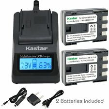 NB-2L Battery & Fast Charger for Canon HG10 HV20 HV30, Optura 30, Optura 40