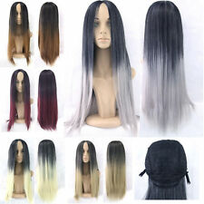 Lady Long Hair Straight Hair Party Cosplay Full Wig Clip In Anime Synthetic 49f