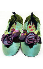 "NEW Goody Goody Bon Bon comfy Silk Slippers ""Wood Nymph"" Womens sz Small - Large"
