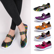 Women Flat Weave Shoes Slip On Casual Boat Loafers Espadrilles Moccasin Sneakers