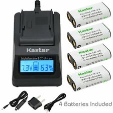 CR-V3 Battery & Fast Charger for Pentax Digibino DB100,Optio 230 330GS K100