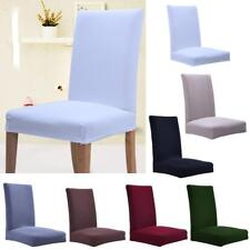 Magideal Elastic Slipcovers Short Dining Room Knitting Fabric Chair Seat Cover
