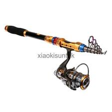 Fishing Rod and Spinning Reel Combo Telescopic Rod & Reel Left/Right Handed