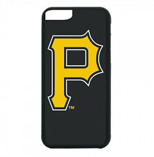Pittsburgh Pirates Phone Case For iPhone 7 6S 6 PLUS 5S 4 Black TPU Rubber Cover