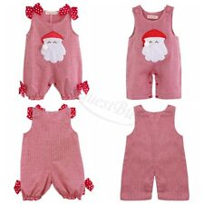 Christmas Newborn Baby Girls Clothes Romper Bodysuit Pants Outfit Gift 0-18 M