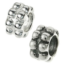 Sterling silver Round Dots Flower Floral Focal Bead for European Charm Bracelets