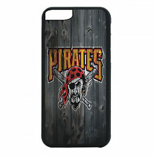 Pittsburgh Pirates Phone Case For iPhone 7 6S 6 PLUS 5 5S 4S Black TPU Rubber