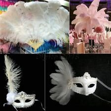 10X White Natural Ostrich Feathers Wedding Cosplay Party Decor Craft DIY 20-40cm