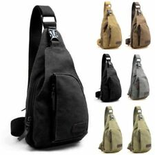 Mens Military Canvas Satchel Shoulder Bag Travel Hiking Backpack Messenger Bag w