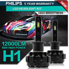 H1 LED Headlight Bulbs All-in-One Conversion Kit 60W 12000LM 6000K High Power