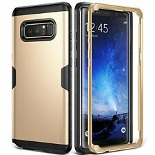 Heavy Duty Dual Layer Armor Case Cover for Galaxy Note 8 2017 Hard PC Slim Gold