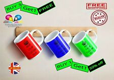 Keep Calm And Carry On Coffee Mug Cup Custom Colour Personalised Name Text Gift