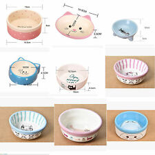 2017 Cat Face Design Pet Dog Cat Ceramic Feeding Bowl Food Water Dish Feeder