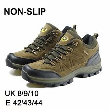 MENS BOOTS BROWN SHOES HIKING WALKING LACE UP CHUKKA WATERPROOF BOOTS SHOES