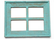 NEW RUSTIC COUNTRY RECLAIMED WIDE BARN WOOD WINDOW 4 PICTURE 5X7 FRAME DECOR