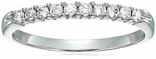 AGS Certified SI2-I1 1/4 ctw Diamond Wedding Band 14K White Gold (H-I Color)