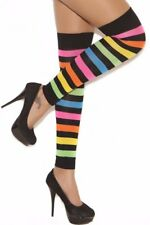 Neon Thigh High Hi Leg Warmers Footless Stockings Hosiery Rave Costume Hose