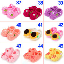 Handmade Baby Infant Boys Girls Crochet Knit Toddler Booties Crib Shoes