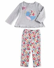 Girls MUD PIE boutique outfit 0-6 & 9-12 NWT long sleeve shirt pants bird flower