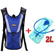Riding Hydration Pack Water Rucksack Backpack 2L Water Bladder Camping Hiking