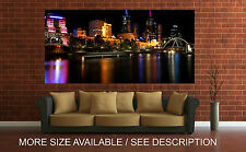 Wall Art Canvas Print Picture Melbourne Skyline by Nigh Australia-Unframed