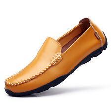 Hot Men's Driving Casual Boat Shoes Leather Shoes Moccasin Slip On Loafers