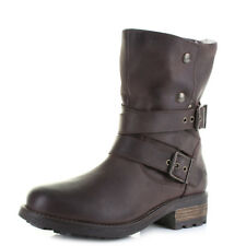 Womens Oak and Hyde Bridge Demi Brown Leather Ankle Boots UK Size