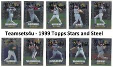 1999 Topps Stars and Steel Baseball Set ** Pick Your Team **